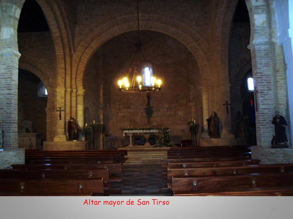 Templo de San Tirso. Estilo románico mudéjar. Su construcción tuvo lugar en el siglo XII 13