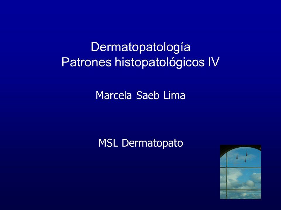 Dermatopatología Patrones histopatológicos IV Marcela Saeb Lima MSL Dermatopato