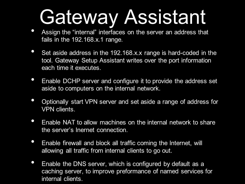 Practica de Configuración de Gateway Setup Assistant