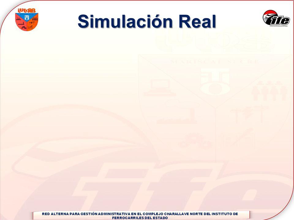 Simulación Real RED ALTERNA PARA GESTIÓN ADMINISTRATIVA EN EL COMPLEJO CHARALLAVE NORTE DEL INSTITUTO DE FERROCARRILES DEL ESTADO