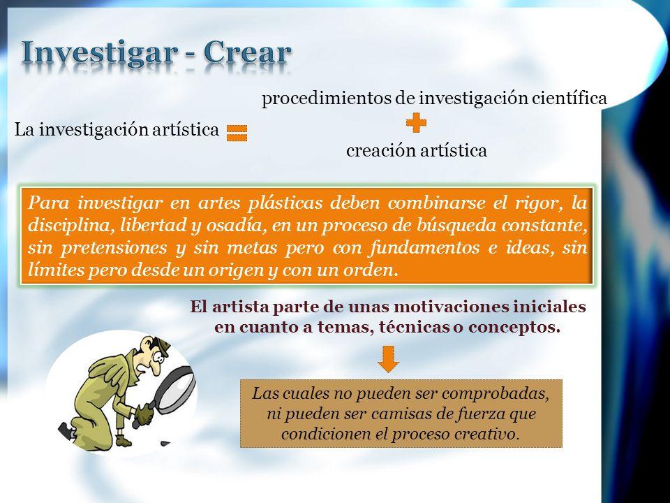 Procesos de producción y sus lenguajes, implica un hacer, crear un objeto artístico que no nace del discurso.