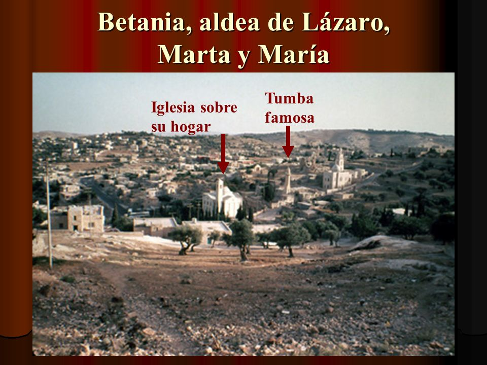 Ahora caminaremos de Jerusalén a Betania
