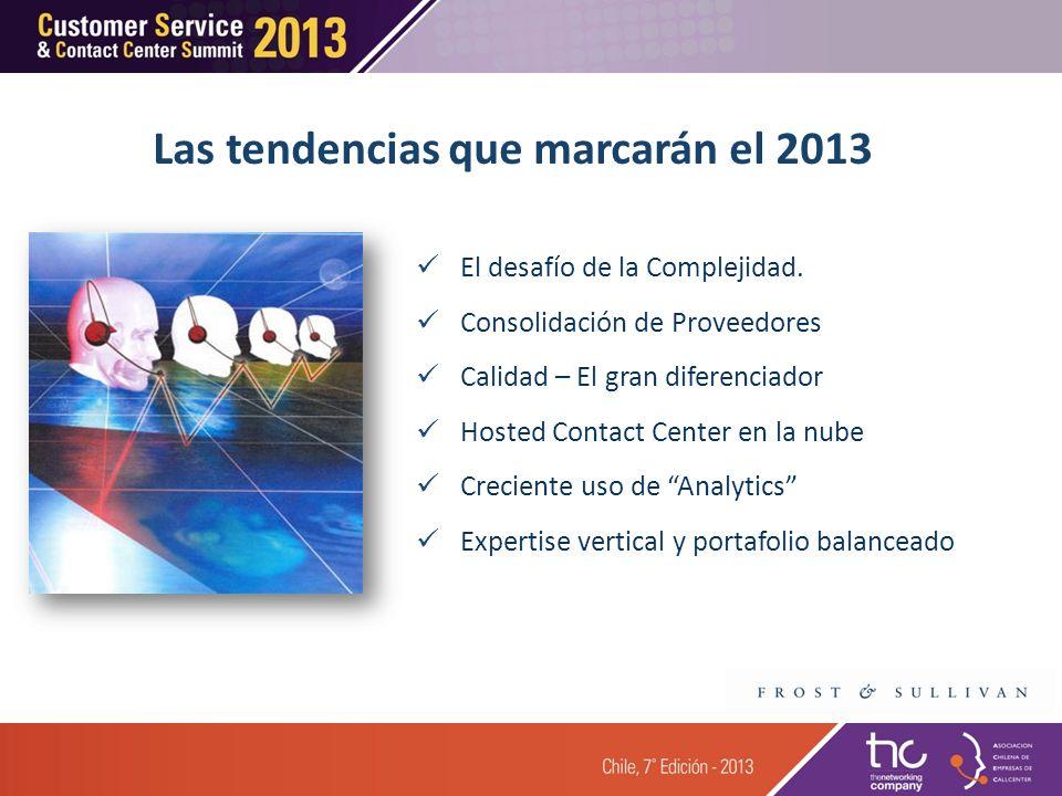 Agenda 3 3 4 4 La Industria de Outsourcing Tercerización en América Latina La Ultima Palabra 1 1 Centros de Contacto Tercerizados en Chile 2 2