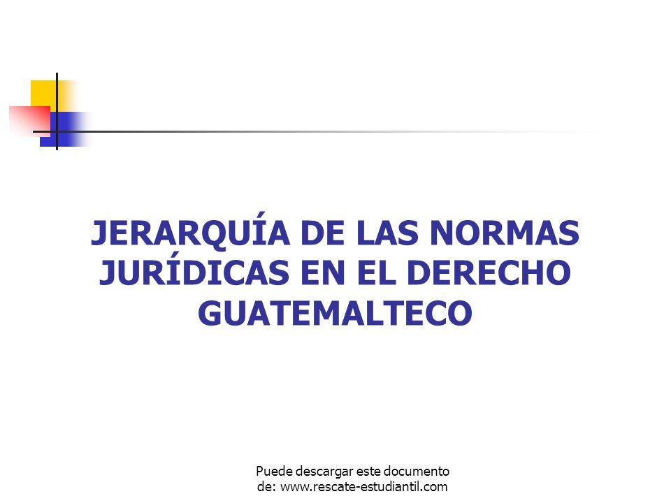 PIRAMIDE DE KELSEN JERARQUÍA NORMATIVA DEL DERECHO GUATEMALTECO CONSTITUCIÓN POLÍTICA DE LA REPÚBLICA REGLAMENTARIAS Acuerdos Gubernativos dictados por el Presidente en consejo de Ministros o éste con el Ministro del Ramo que corresponda.