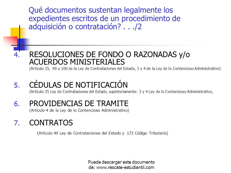 4. RESOLUCIONES DE FONDO O RAZONADAS y/o ACUERDOS MINISTERIALES (Artículo 35, 99 y 100 de la Ley de Contrataciones del Estado, 3 y 4 de la Ley de lo C
