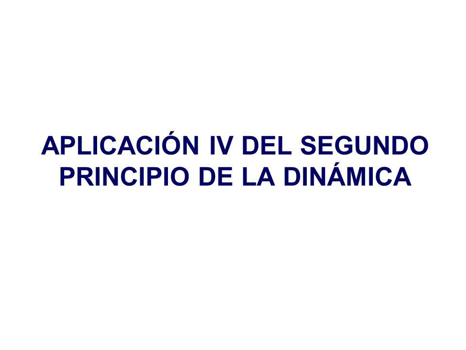 APLICACIÓN IV DEL SEGUNDO PRINCIPIO DE LA DINÁMICA