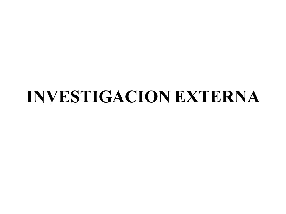 INVESTIGACION EXTERNA