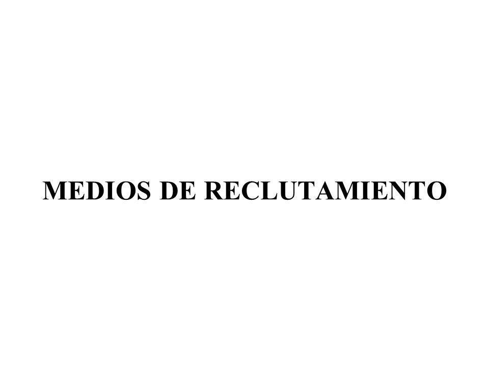MEDIOS DE RECLUTAMIENTO
