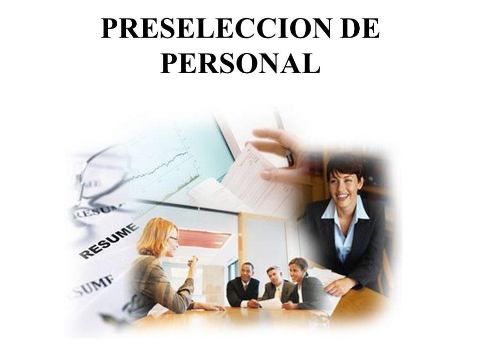 PRESELECCION DE PERSONAL