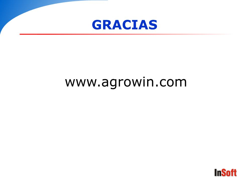 GRACIAS www.agrowin.com GRACIAS www.agrowin.com