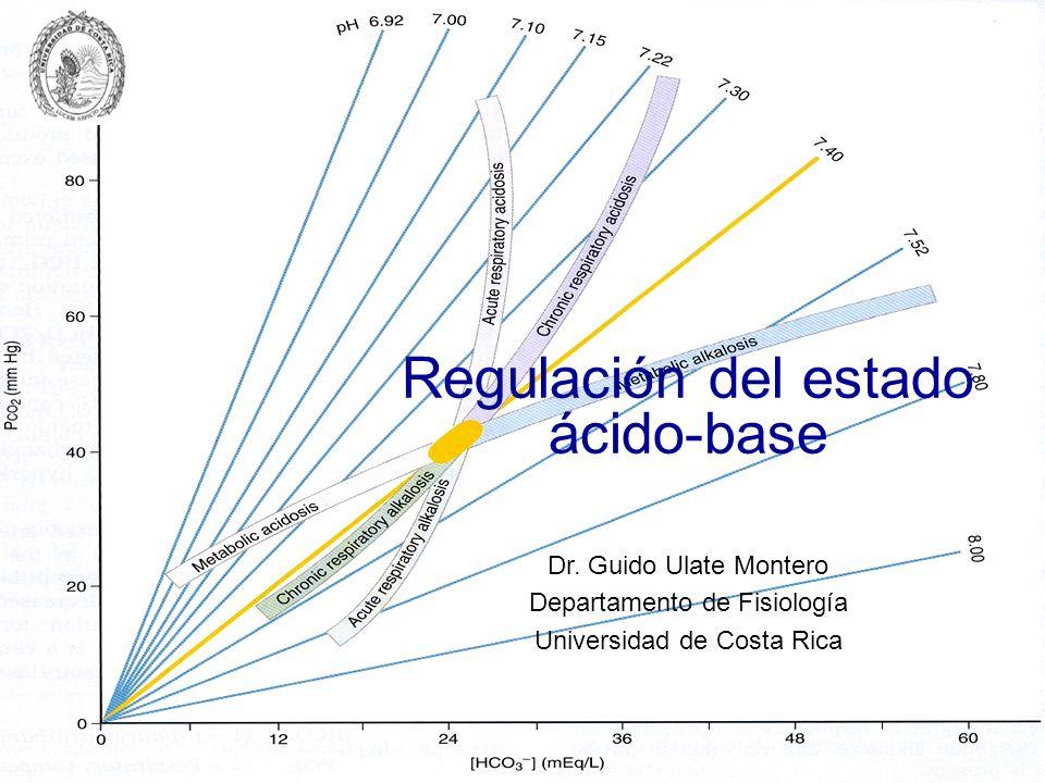 Regulación del estado ácido-base Dr. Guido Ulate Montero Departamento de Fisiología Universidad de Costa Rica