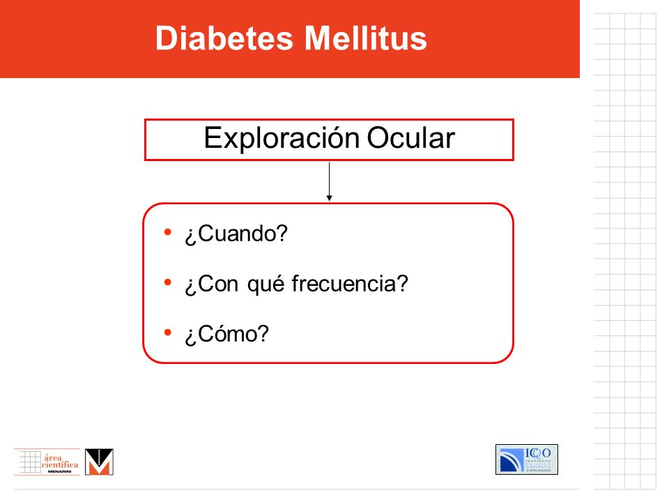 ¿Cuando? ¿Con qué frecuencia? ¿Cómo? Diabetes Mellitus Exploración Ocular