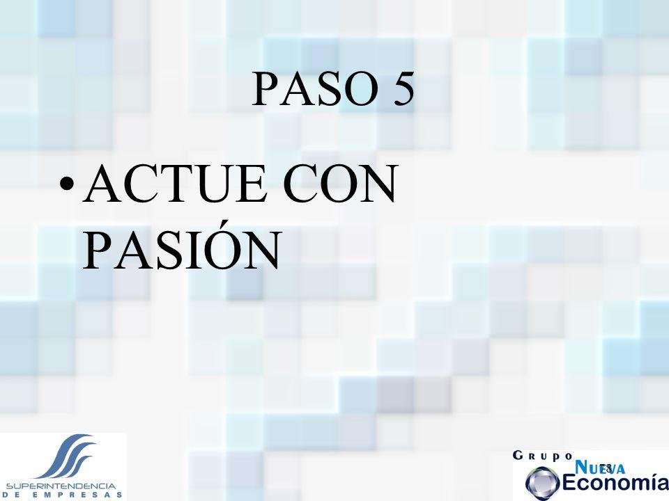 78 PASO 5 ACTUE CON PASIÓN