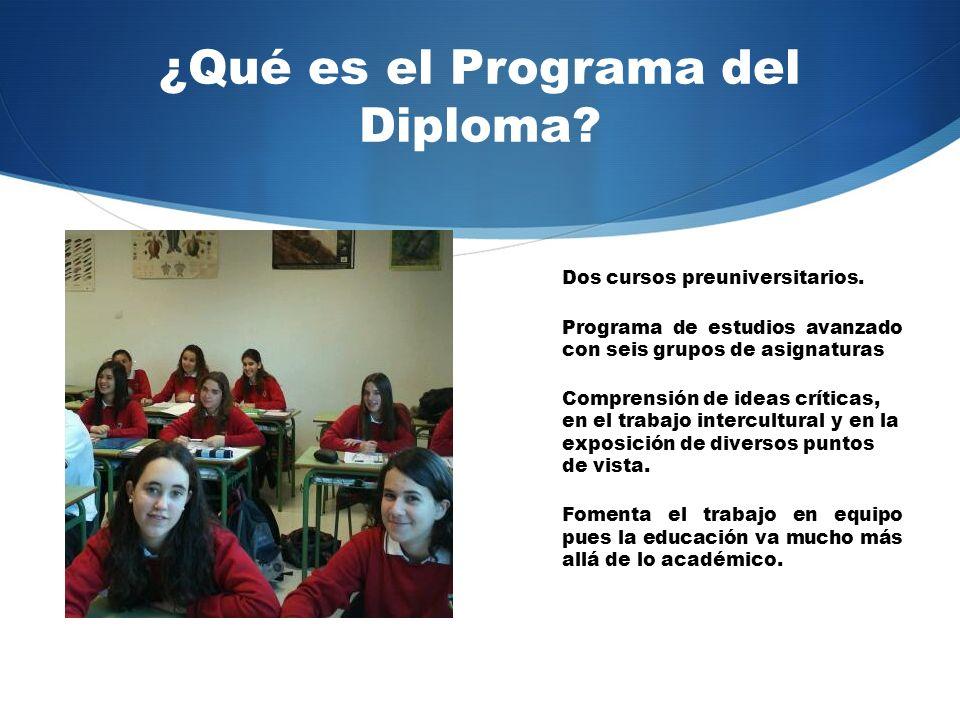 ¿Qué es el Programa del Diploma.Dos cursos preuniversitarios.