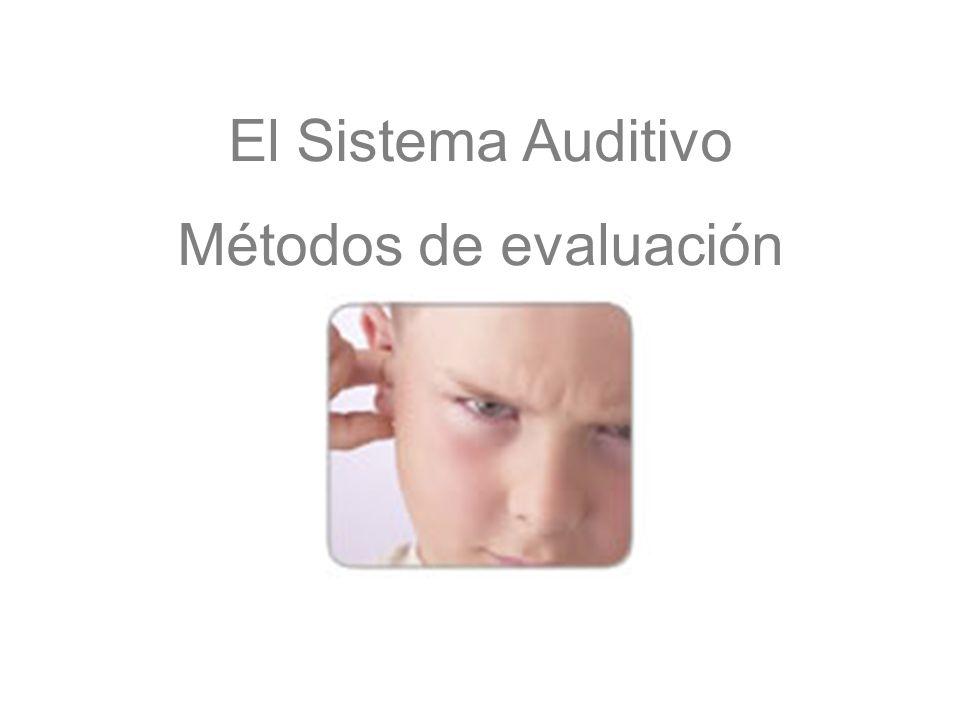 El Sistema Auditivo Métodos de evaluación