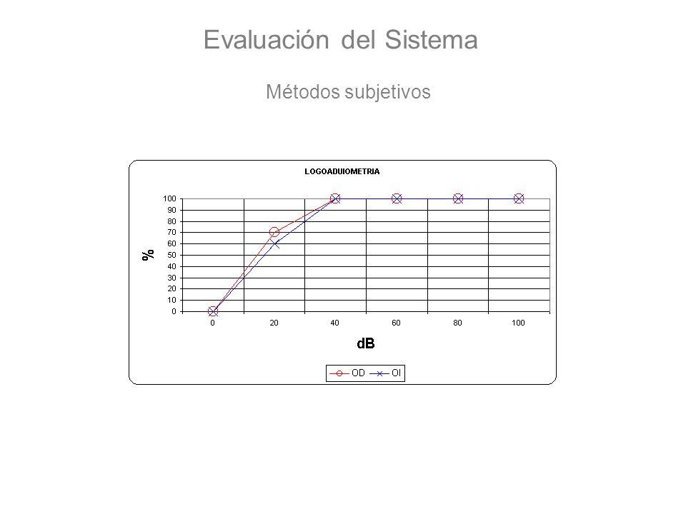 Evaluación del Sistema Métodos subjetivos