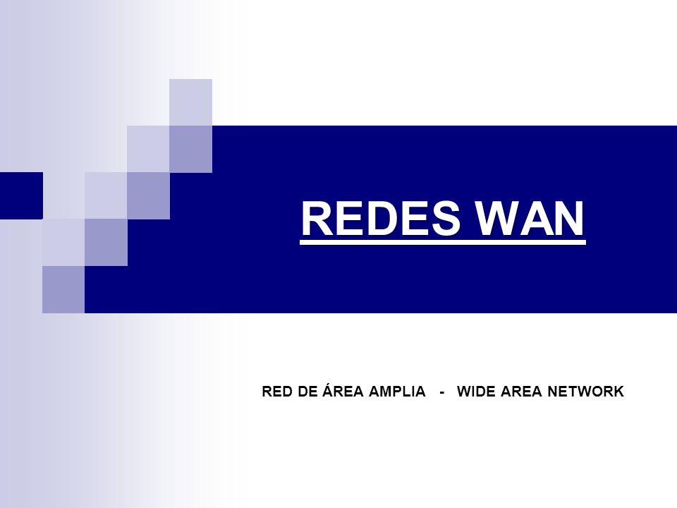 REDES WAN RED DE ÁREA AMPLIA - WIDE AREA NETWORK