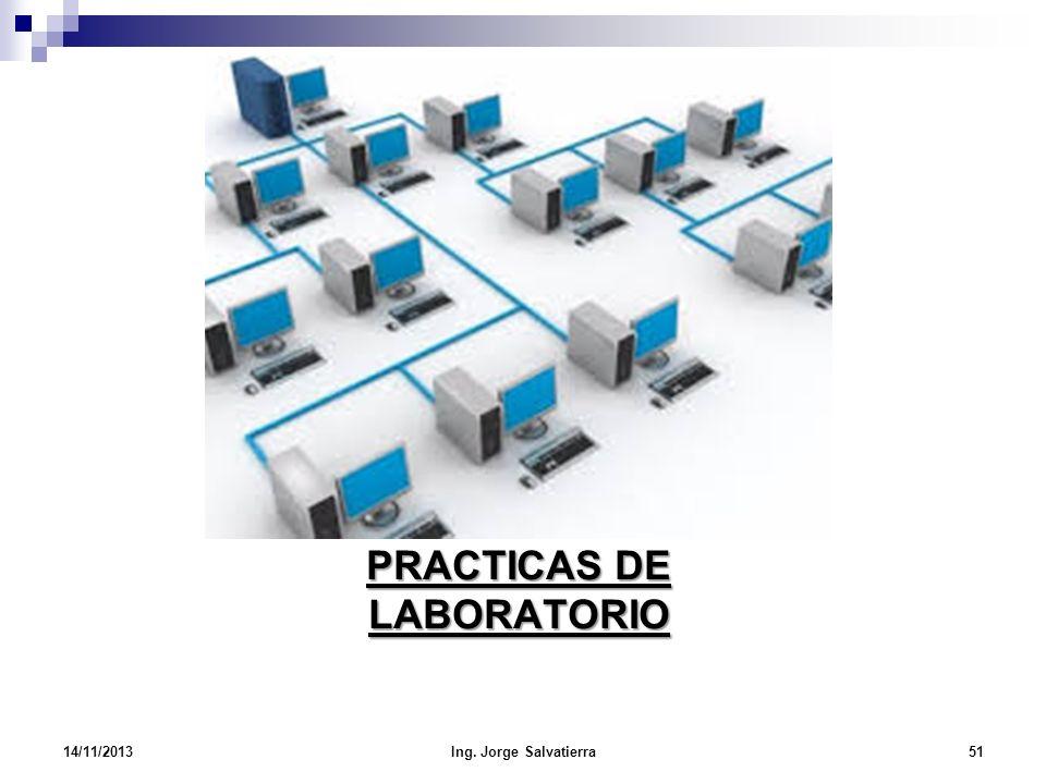 PRACTICAS DE LABORATORIO 14/11/201351Ing. Jorge Salvatierra