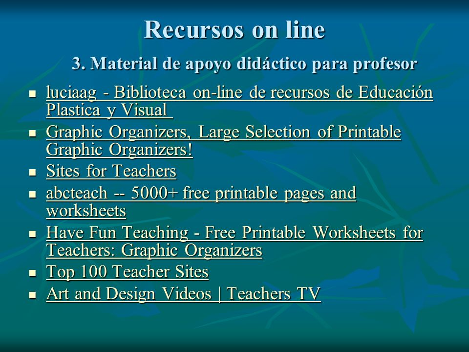 Recursos on line 2. Herramientas o procedimientos National Gallery of Art | NGAkids home page National Gallery of Art | NGAkids home page National Gal