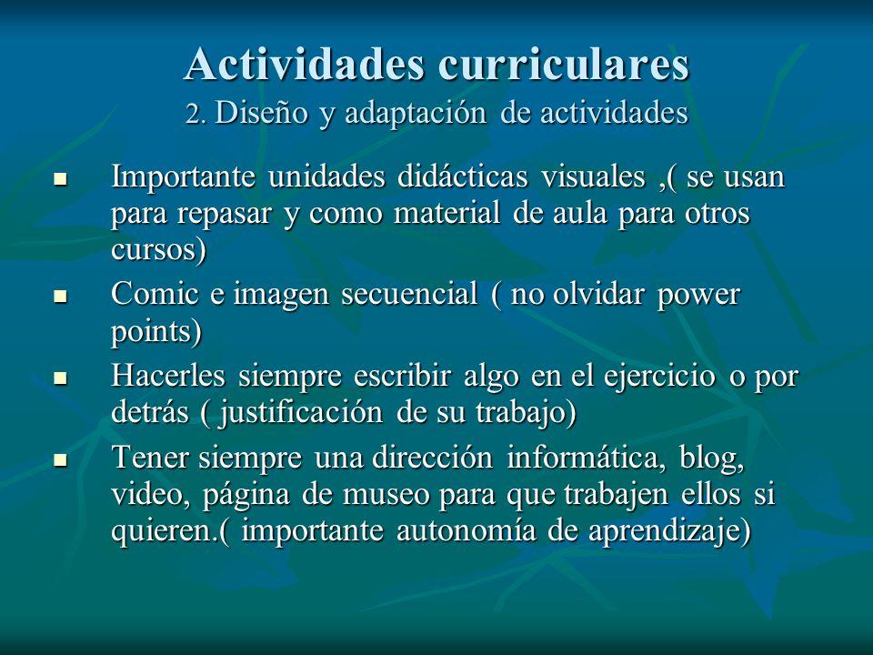 Actividades curriculares 1. Propuesta de Secuencia didáctica 1.