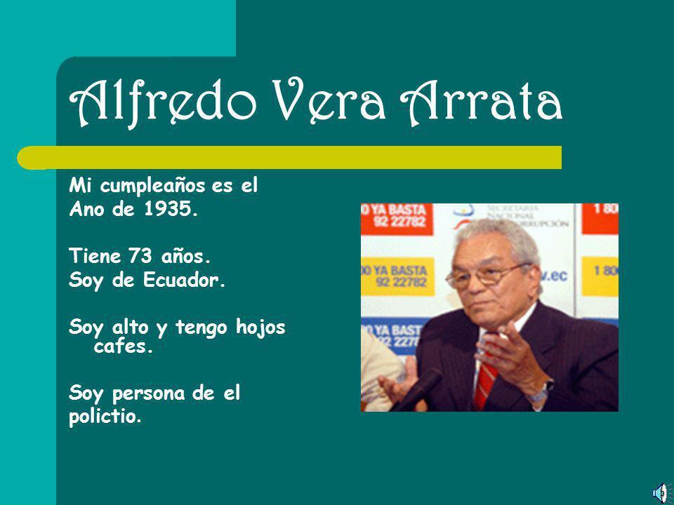 Diego Borja Mi cumpleaños es el 1 de mayo. Tiene 44 años. Soy de Ecuador. Soy alto y tengo hojos nergos. Soy persona de el National Constitutinal Asse