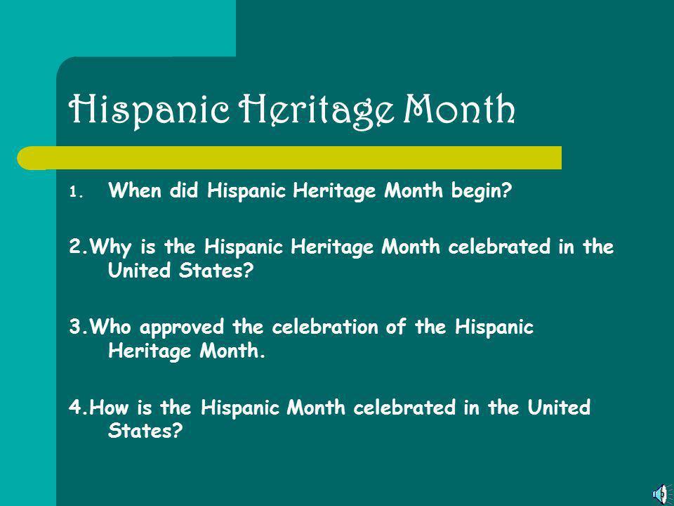 Tabla de Contenidos Tabla de Contenidos………………………….................pg. 2 Hispanic Heritage Month...........................................…pg.3 Christ
