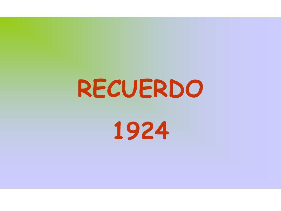 RECUERDO 1924