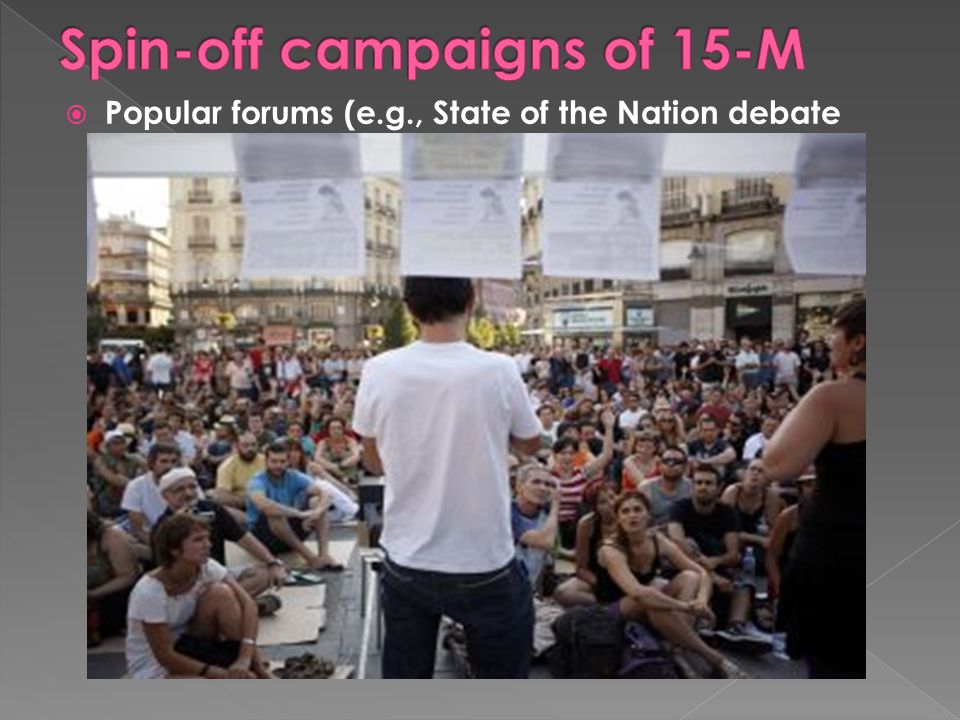 Popular forums (e.g., State of the Nation debate