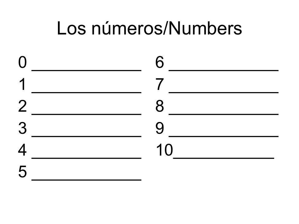 Los números/Numbers