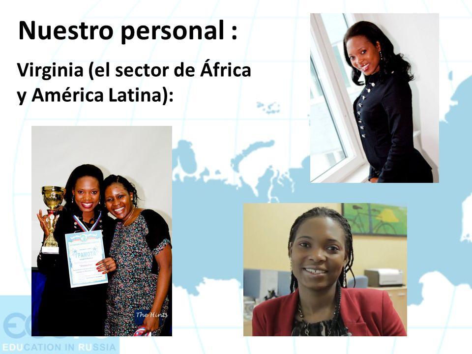Nuestro personal : Virginia (el sector de África y América Latina):