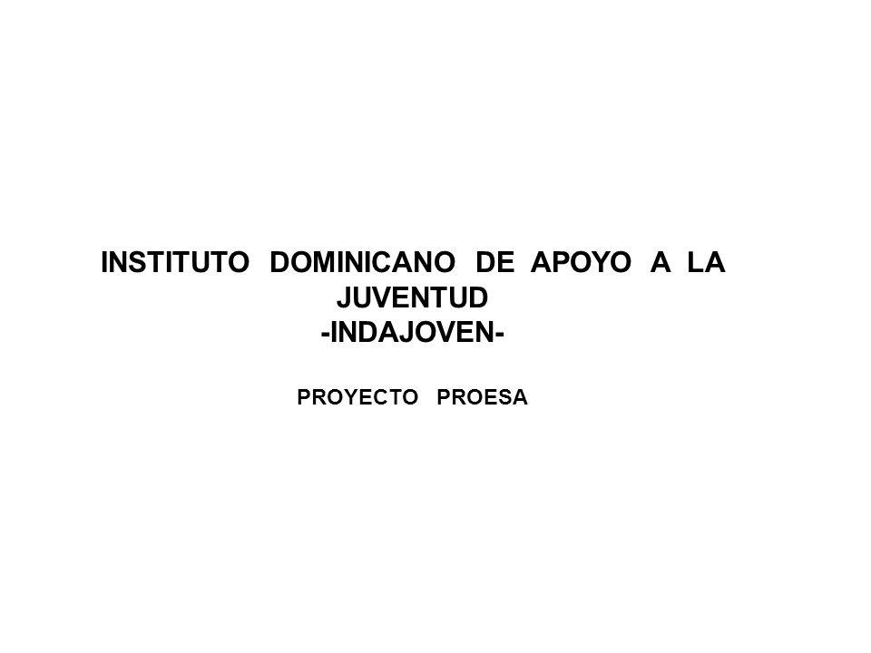 INSTITUTO DOMINICANO DE APOYO A LA JUVENTUD -INDAJOVEN- PROYECTO PROESA