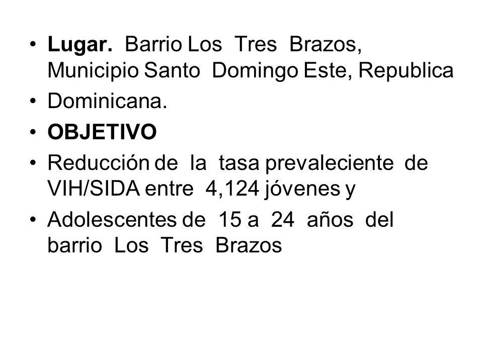 Lugar. Barrio Los Tres Brazos, Municipio Santo Domingo Este, Republica Dominicana.