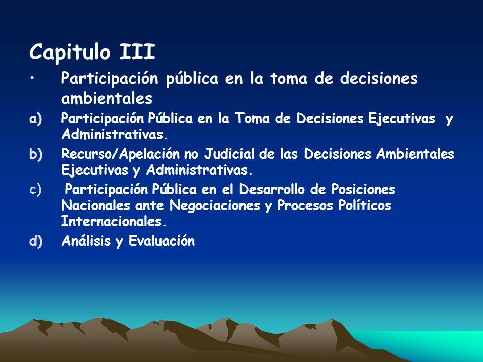 Capitulo IV Acceso a la Justicia en la Aplicación del Derecho Ambiental Nacional a)Acceso a la Justicia en Materia de Cumplimiento del Derecho Administrativo.