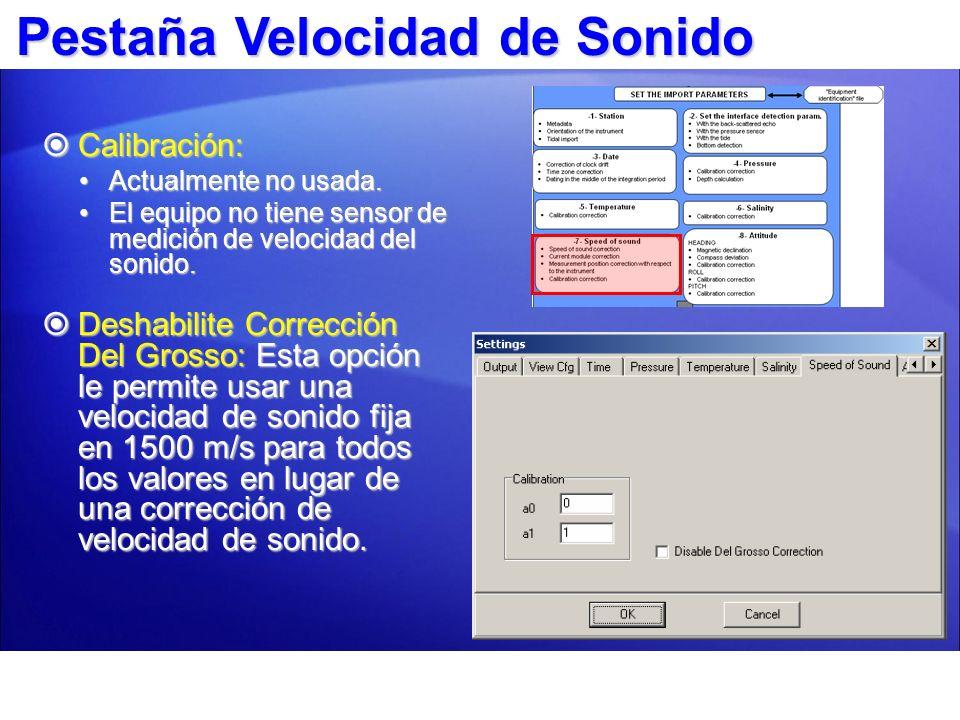 Pestaña Actitud Declinación Magnética: Corrección de la declinación magnética (ej.