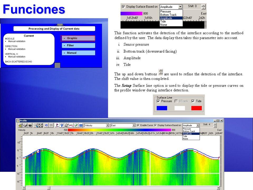 Particularidad de correntómetro de punto sencillo El correntómetro de punto sencillo Nortek Aquadopp hace mediciones en una celda, ud.