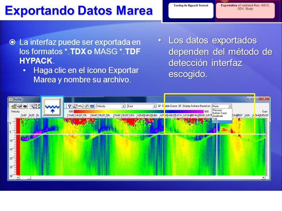 Exportando Datos Marea Mostrar Superficie con base en AmplitudMostrar Superficie con base en Amplitud Mostrar Superficie con base en PresiónMostrar Superficie con base en Presión