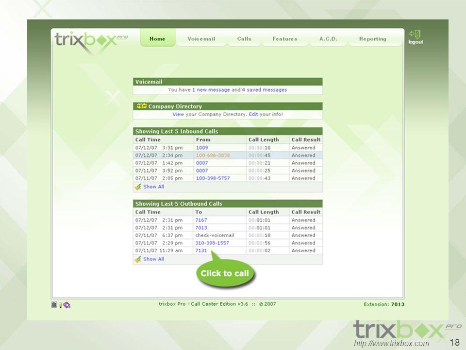 18 http://www.trixbox.com