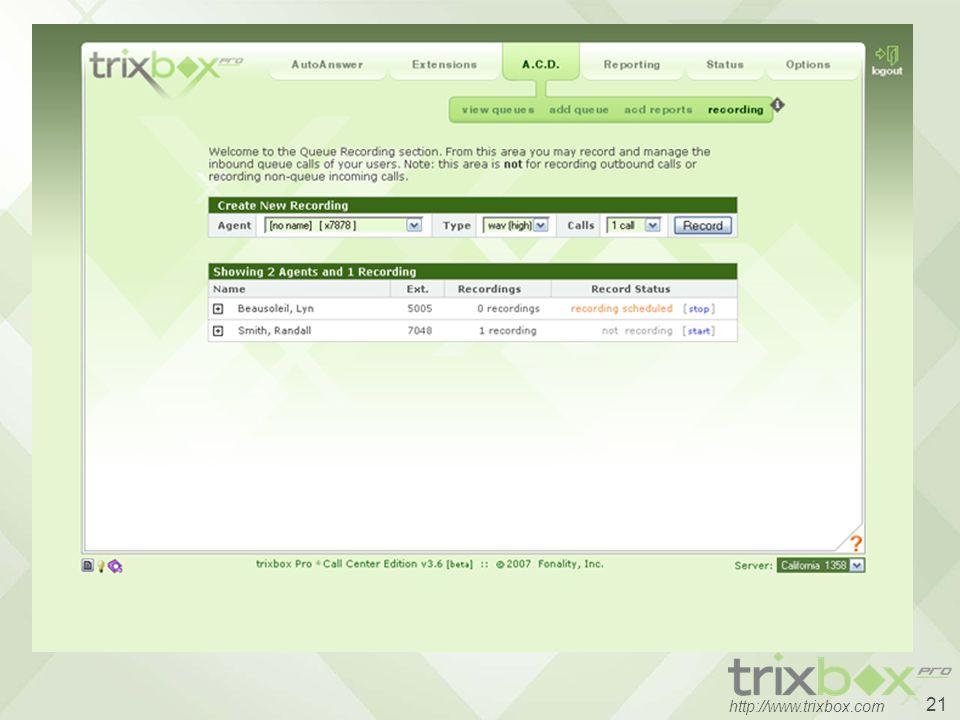21 http://www.trixbox.com