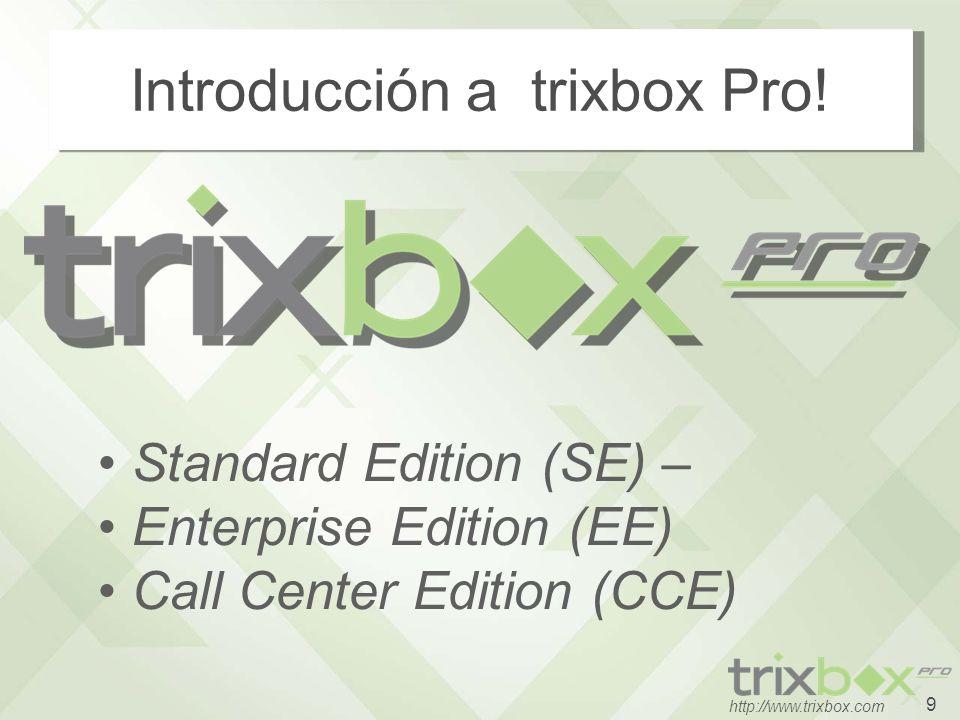 10 http://www.trixbox.com Familia Software Trixbox trixbox CE es open- source, desarrollado para el equipo de la comunidad.