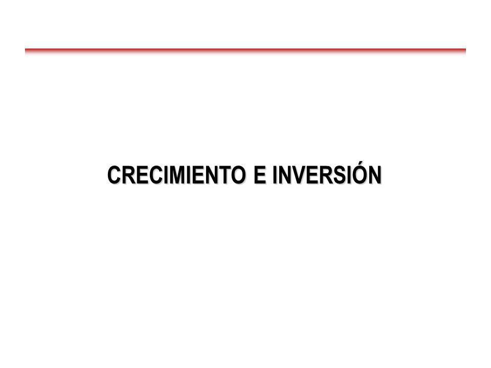 CRECIMIENTO E INVERSIÓN