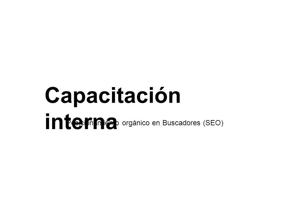 Capacitación interna Posicionamiento orgánico en Buscadores (SEO)