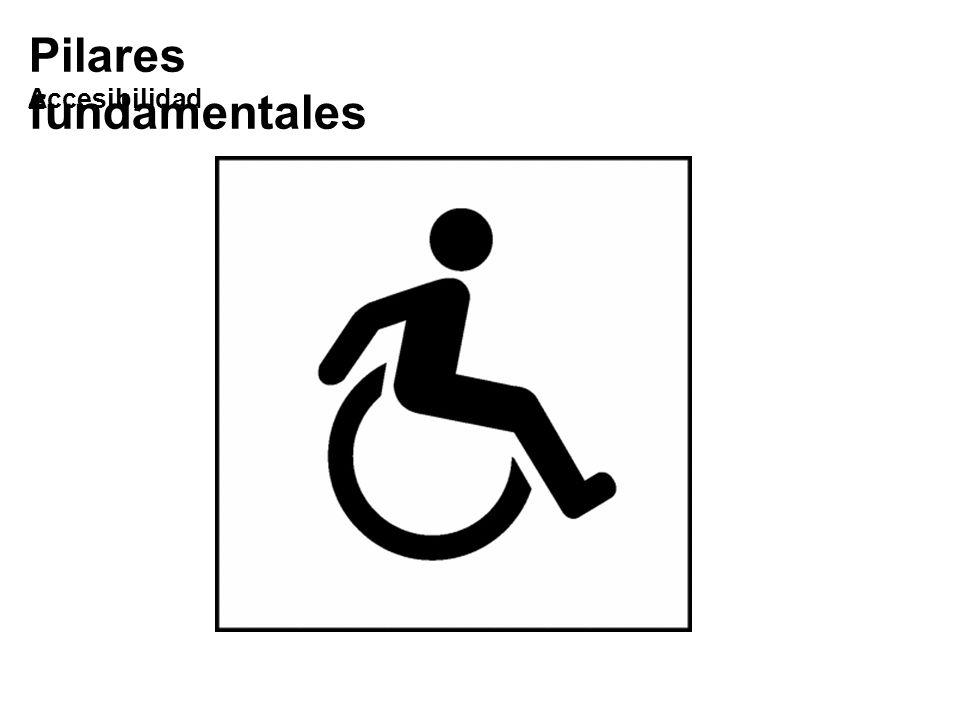 Pilares fundamentales Accesibilidad