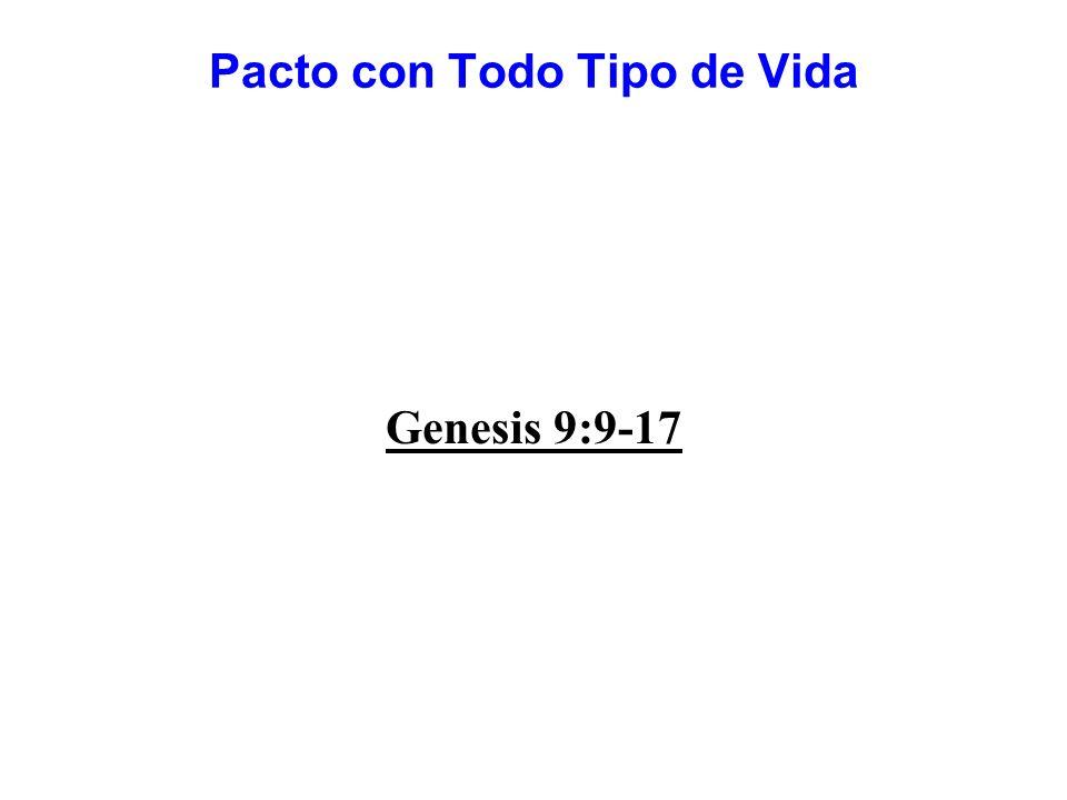 Pacto con Todo Tipo de Vida Genesis 9:9-17