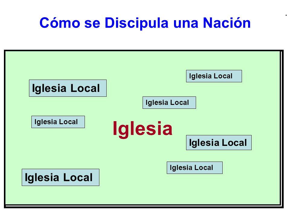 . Cómo se Discipula una Nación Iglesia Iglesia Local