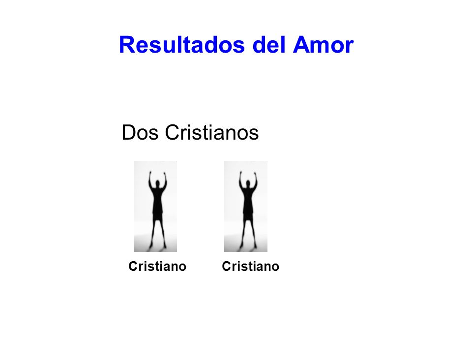 Resultados del Amor Dos Cristianos Cristiano Cristiano