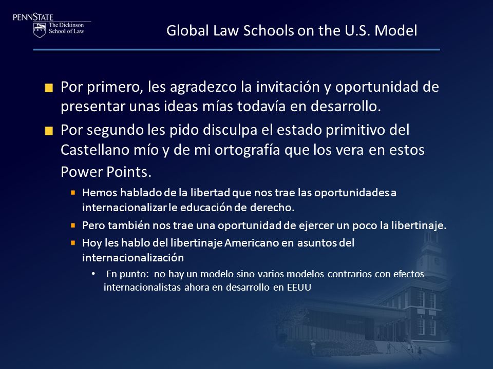 Global Law Schools on the U.S. Model