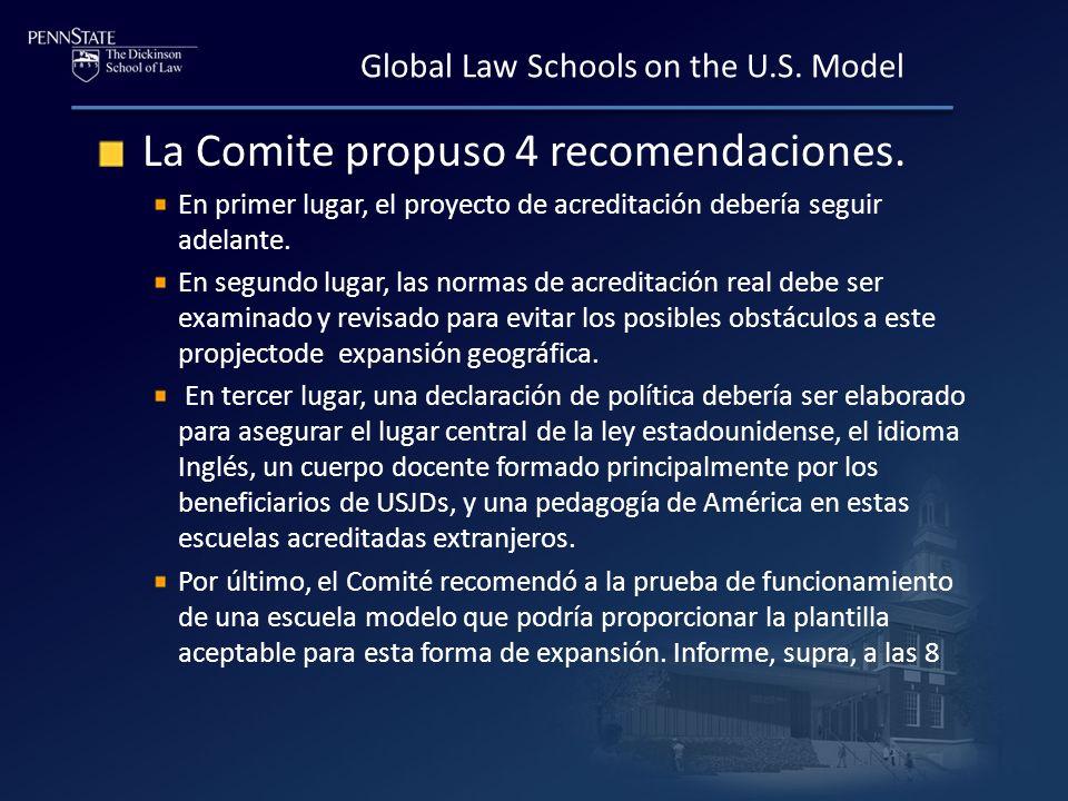 La Comite propuso 4 recomendaciones.