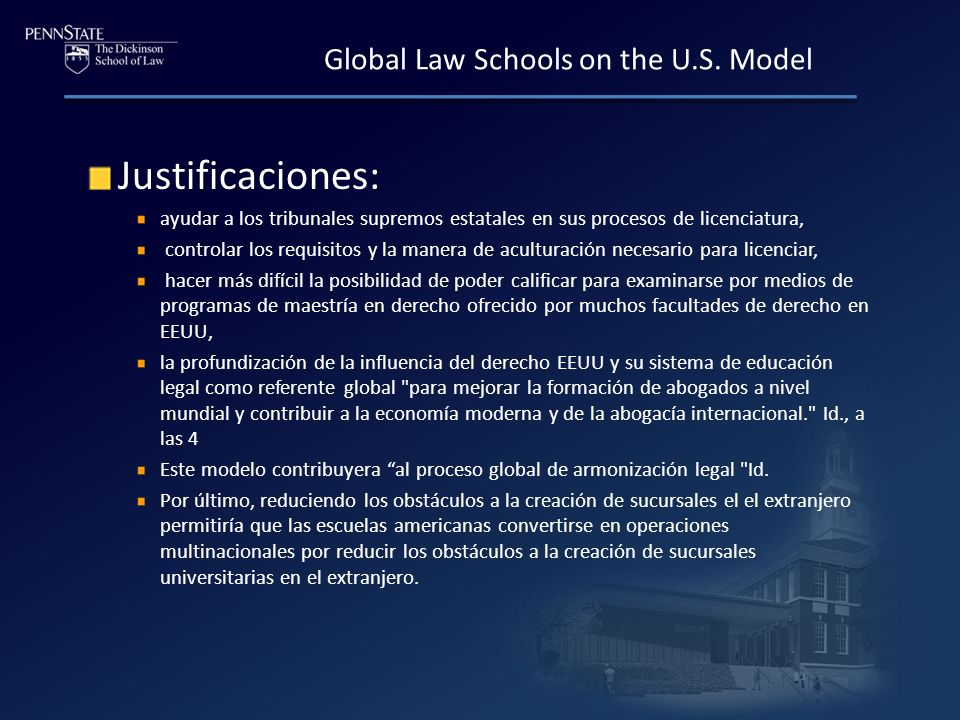 Global Law Schools on the U.S.
