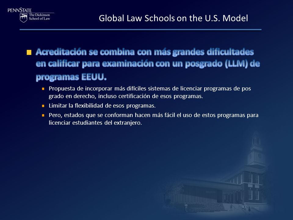 Global Law Schools on the U.S. Model