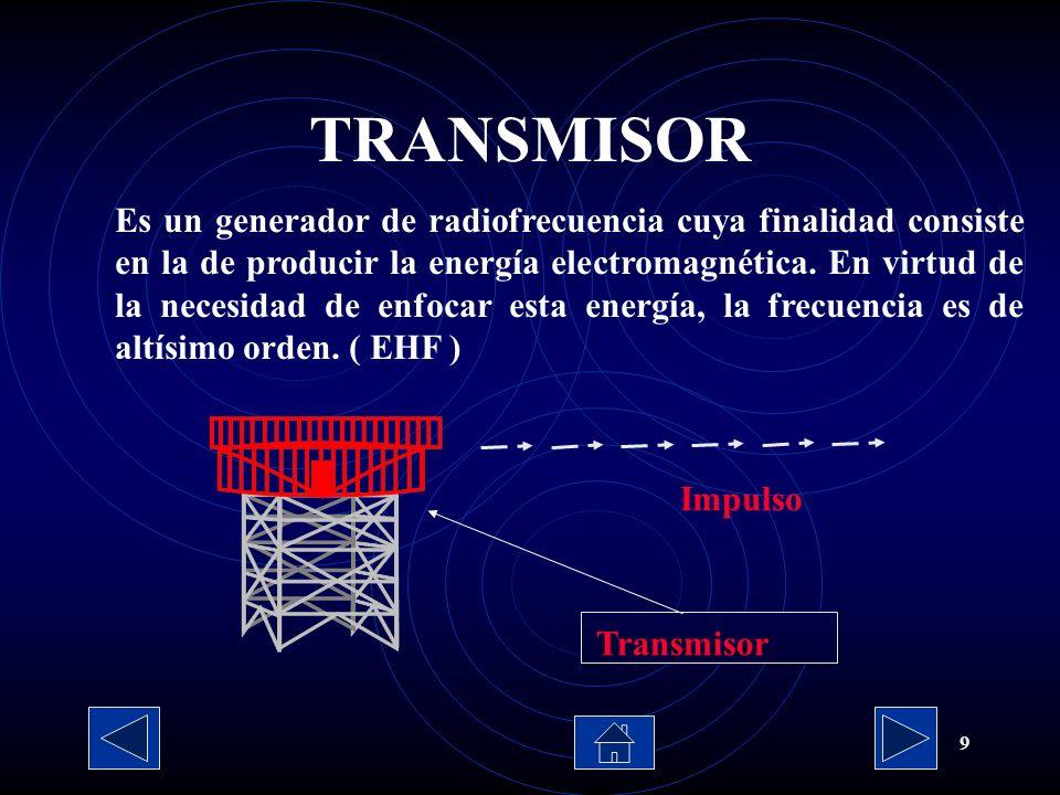 9 Es un generador de radiofrecuencia cuya finalidad consiste en la de producir la energía electromagnética. En virtud de la necesidad de enfocar esta